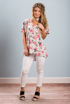 """Light The Way Top, Cool Gray""This top will light the way to a better day! Why will it be so much better? Because just look at this top! #newarrivals #shopthemint"