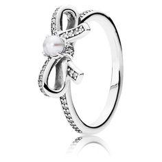 Pandora Ring Perl-Schleifchen 190971P