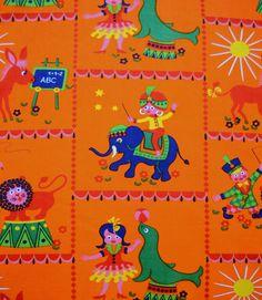 fantastic Circus Dekoplus fabric. kr75.00, via Etsy.