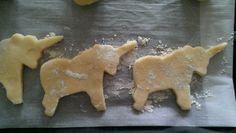 Unicorn-shaped cookies