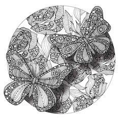 Divine Butterflies Mandala ColorMe Decal by Valentina Harper