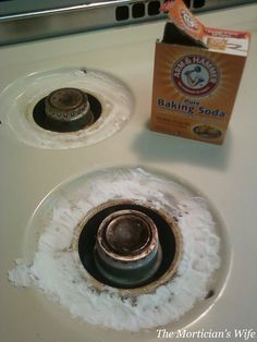 Burner Rings: Clean with Baking soda and peroxcide