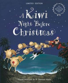 I chose this illustration because I like the drawing of the flying ring dears. Lawford M. (October A Kiwi Night Before Christmas [online image]. Retrieved from Christmas List 2016, Christmas Books, Santa Dress, Twas The Night, Christmas Crackers, Morrisons, The Night Before Christmas, Better Love, Online Images