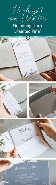 Verschickt Eure Einladungen Als Pocketfold Format Für Eure Winterhochzeit  An Eure Gäste. Das Papier Ist