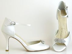 214e834b64 Buy Dyeable Diamond White Angela Nuran Astoria and other Footwear from  Model Bride, your personal online store for designer bridal shoes!