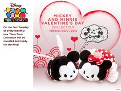 Mickey and Minnie's Valentine's Day Tsum Tsum releasing on January 5, 2016!