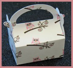 owl party favor box owl birthday favor box owl by tinygiftboxes, $1.35