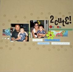 simple scrapbook page - clean and simple scrapbooking, scrapbooking family, stamping on a layout CLASSES I TEACH http://theartstudio.scrapbooknewsandreview.com/index.php/by-instructor/m-to-z/mo-esquillo-kao