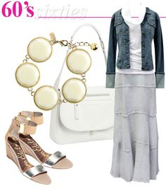 The say an outfit for you 60's, not there yet but really like the maxi skirt and denim jacket