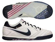 Nike5 Gato Leather USA Edition Indoor Soccer Shoes (Sail/Gym Red/Dark Gold Leaf/Dark Obsidian) at soccercorner.com