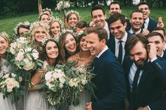 Happy bridal party from this rainy day wedding | Image by The Image Is Found