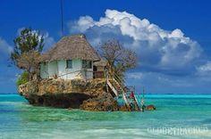 the Rock Restaurant, Zanzibar off the Tanzanian coast