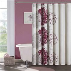 Pink Black And White Shower Curtain