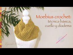 Crochet moebius: técnica básica y, además, cuello o bufanda corta infinita y diadema o vincha. :) - YouTube