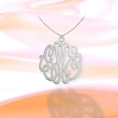Monogram Necklace 3/4 inch Sterling Silver Handcrafted Cutout Personalized Initial Necklace - Made in USA Silver Jewelry Arcade,http://www.amazon.com/dp/B00A9OMTQU/ref=cm_sw_r_pi_dp_RYuxtb1XSB6DAMR7