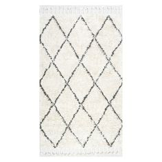 nuLOOM Fex Shag Indoor Area Rug Natural - SPRE14A-10014