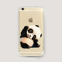 Clear iPhone Case Panda, Clear iPhone 6 Plus Case, iPhone 6s Clear Case, Clear…