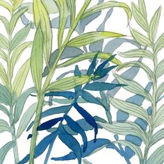 Have you seen the pantone colors for spring 2017? A cropped piece of my tropical leaves painting has several of the pantone spring colors. My favorite are the blues and greens. Niagra happens to be the exact color of my living room and island paradise my entry way. I must be a trend setter