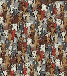 Novelty Cotton Fabric - Kitty KatsNovelty Cotton Fabric - Kitty Kats,