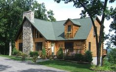 Custom Log Sided Modular Home