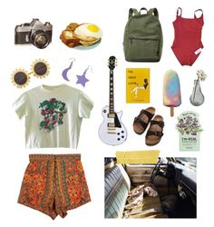 """spring break?"" by bananaboyy on Polyvore featuring StyleNanda, H&M, Herschel Supply Co., Alpine, Eres, Birkenstock, TONYMOLY and Dot & Bo"