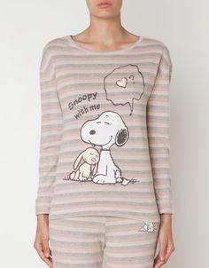 Snoopy stripe print top - T-shirts - Oysho & Friends - United Kingdom