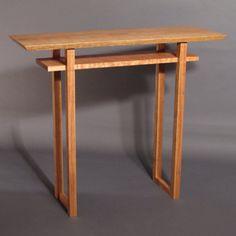 Bon Tall Narrow Side Table  Entry Console Table, Narrow Hall Table, Artistic Side  Table