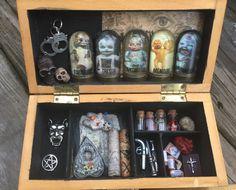 Miniature Creepy Dead Doll Voodoo Kit! Black Magic OUIJA Spirit Board! by HalesHaven on Etsy
