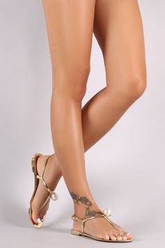 This cute flat thong sandal features a T-strap design, adjustable buckled ankle strap closure, jelly style, and a faux pearl accent. Material: PVC (man-made) Sole: PVC Measurement Heel Height: (approx. Beautiful Sandals, Beautiful Toes, Pretty Toes, Jelly Sandals, Flat Sandals, Strap Sandals, Sexy Toes, Female Feet, Women's Feet