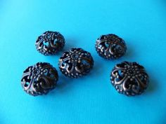 Bronze-Filigree-Beads-5pc-Lot