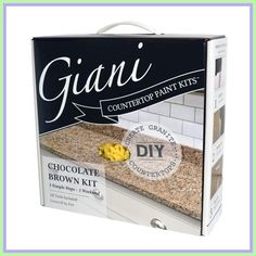 Granite Countertop Giani Chocolate Brown Countertop Paint Kit - Giani Countertop White Diamond Covers 35 square feet linear feet of standard wide counters), the typical surface area of most kitchen countertops Countertop Refinishing Kit, Countertop Paint Kit, Resurface Countertops, Slate Countertop, Painting Countertops, Kitchen Countertop Materials, Countertop Makeover, Kitchen Cabinets, Vanity Countertop