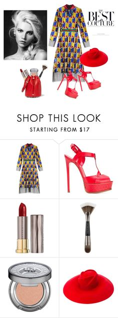 """""""Beauty attracts the eye but personality captures the heart ❤️"""" by curlysuebabydoll ❤ liked on Polyvore featuring Gucci, Casadei, Urban Decay and Alexander Wang"""