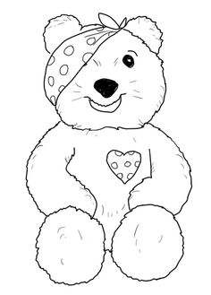 Pudsey Bear Colouring Template