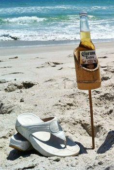 Bamboo Drink Stakes. ☀CQ .·:*ßeÁ©]-[Ý`*:·. http://www.pinterest.com/CoronaQueen/beach-shack-~~-corona/