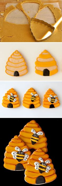 Classic Cookie Dough Bee Cookies - Cupcakepedia