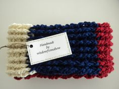Red White & Blue Crochet Infinity Scarf by wisdomfromabove on Etsy, $29.00