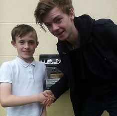 Thomas with fan in Ireland. New