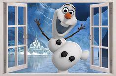 Frozen Olaf The Snowman 3D Window View Decal Wall Sticker Decor Art Mural Disney   eBay