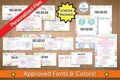 LuLaRoe Starter Package Marketing Kit in Floral 107  by Blue Aspen Studio