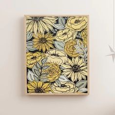 Art Floral, Cute Canvas Paintings, Canvas Art, Yellow Painting, Matte Painting, You Draw, Art Inspo, Painting & Drawing, Flower Art