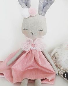 Little bunny girl ! Work still in progress,dressing up... #bunnydoll #girlsdoll #handmadegifts #christmasgifts #fabricdolls #heirloomdoll #lovehandmade #nursery