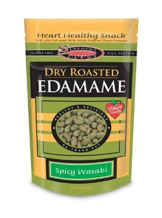 Seapoint Farms Dry Roasted Edamame, Wasabi, 3.5-Ounce Pouches (Pack of ...