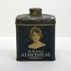 Vintage Cosmetics Tin - Dr Palmer's Almomeal Compound - Holton & Adams Inc - New York - Circa 1920