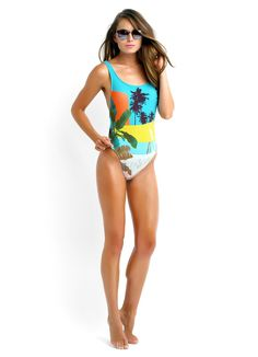 Poolside Tank One Piece Maillot