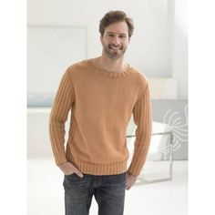 Harvard Square Pullover (Knit) - Lion Brand Yarn
