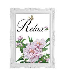 Relax-decorazione per casa-quadro da appendere-fiori di di SafuArt
