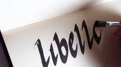 Libelle  #week9 #52weeksofhandlettering #poppyred #handlettering #calligraphy