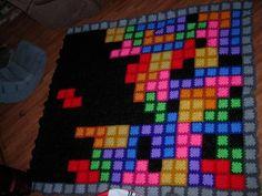 Granny Square Tetris Blanket.