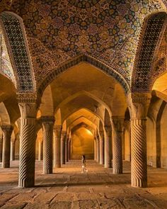 Vakil mosque was built between 1751 and during the Zand era . Location: city of Shiraz - Premium wines delivered to your door. Get wine. Get social. Persian Architecture, Religious Architecture, Classical Architecture, Historical Architecture, Amazing Architecture, Architecture Details, Islamic World, Islamic Art, Islamic Sites