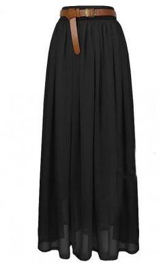Basic Long Chiffon Skirt by Apostolic Clothing